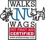 Walk 'N' Wags Pet 1st Aid Badge