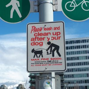 Sign to clean up after your dog